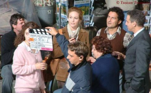 Under the Tuscan Sun filming with Diane Lane